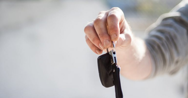 photo of car keys